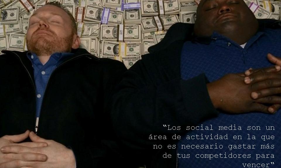 Los social media son un área de actividad en la que no es necesario gastar más de tus competidores para vencer -Hal Stokes