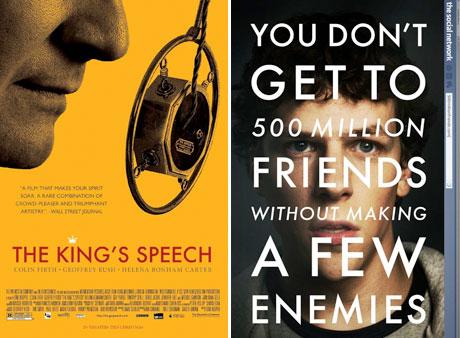 The King's speech / The Social network