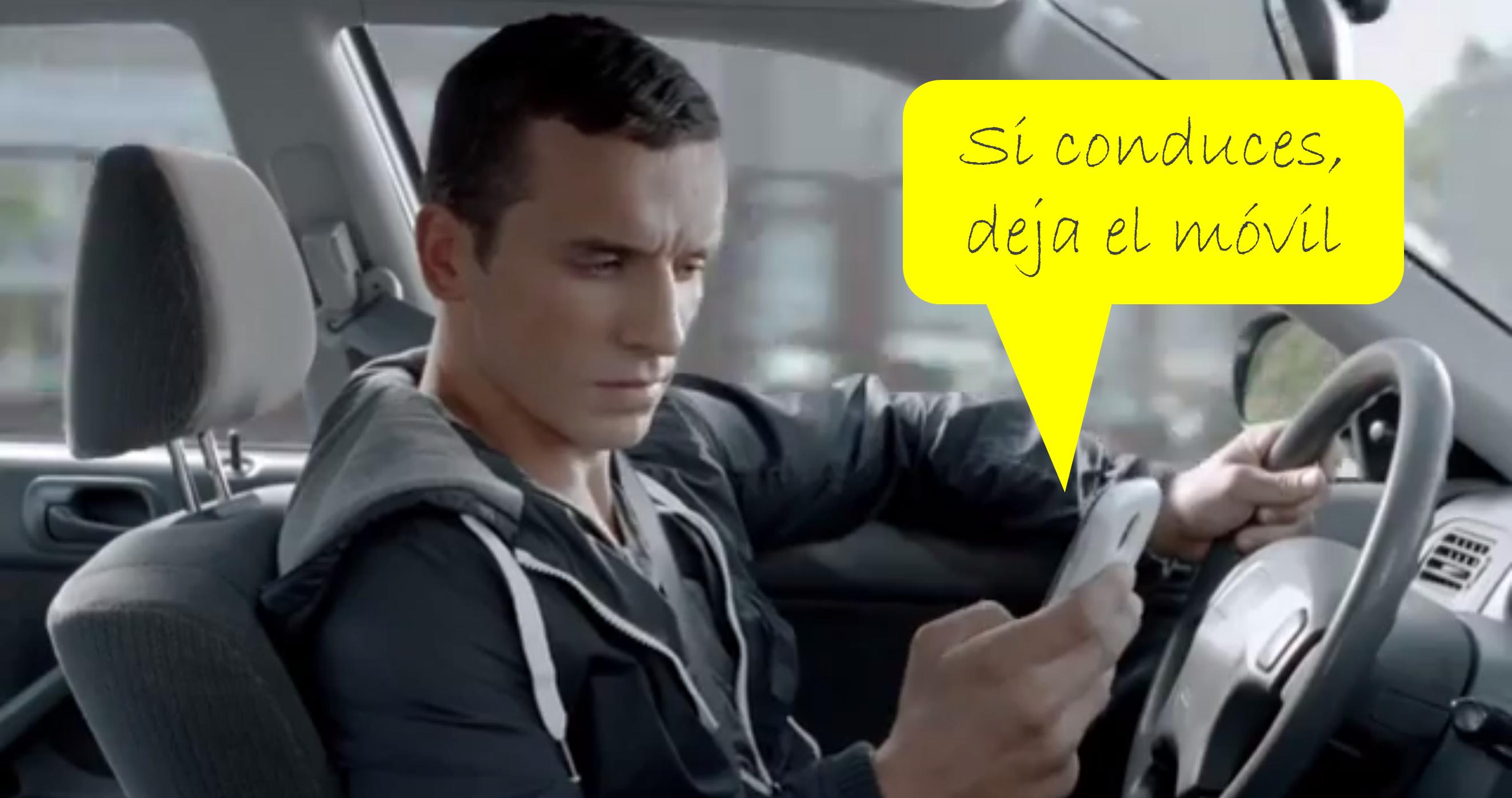 Si conduces, no uses el móvil Don't text and drive_